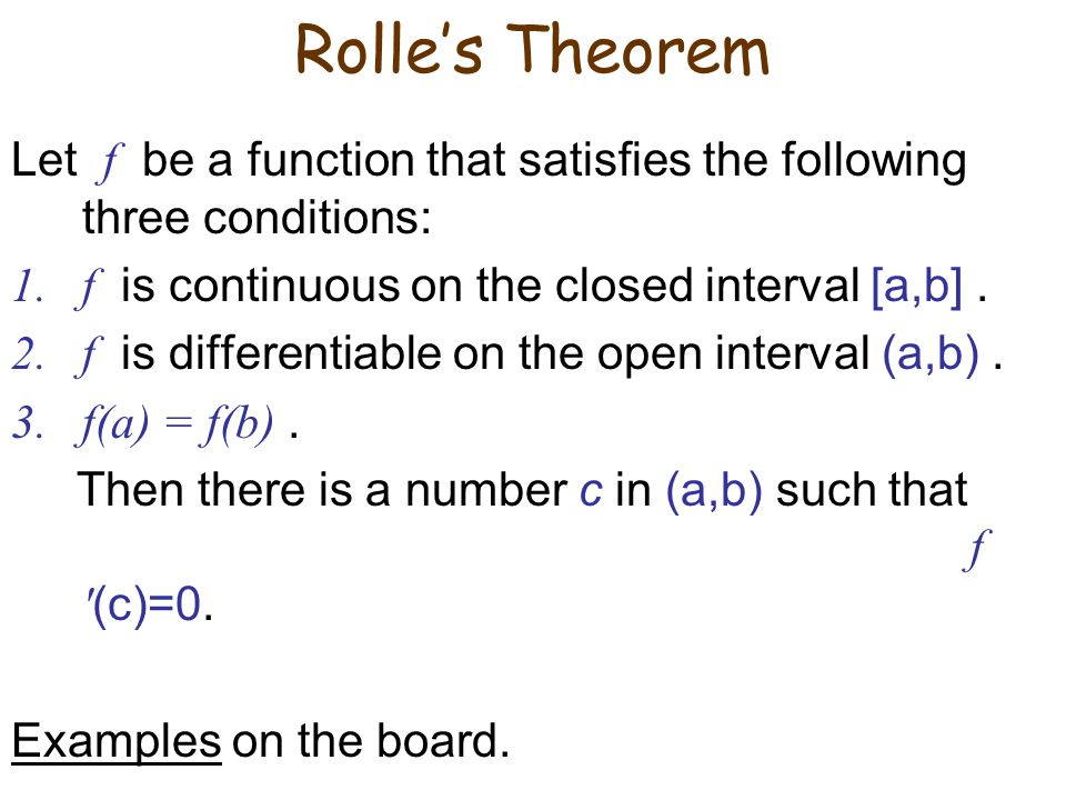 4.2 The Mean Value Theorem. - ppt video online download